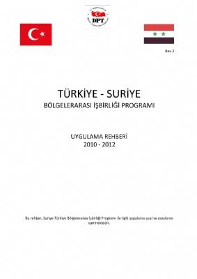 Türkiye-suriye Bölgelerarası İşbirliği Programı Uygulama Rehberi ( Türkçe)