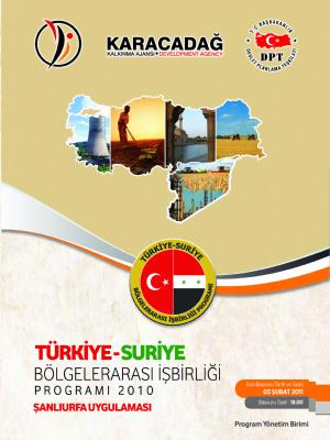 Türkiye-Suriye Bölgelerarası İşbirliği Programı Şanlıurfa Uygulaması