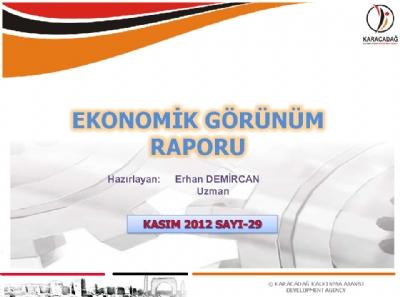 (Sayı 29) 2012 Kasım Ayı Aylık Ekonomik Görünüm Raporu
