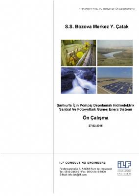 Şanlıurfa İçin Pompaj Depolamalı Hidroelektrik Santral ve Fotovoltaik Güneş Enerji Sistemi