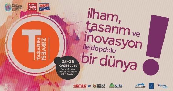 Tasarım Zirvesi 25-26 Kasım'da Bursa'da