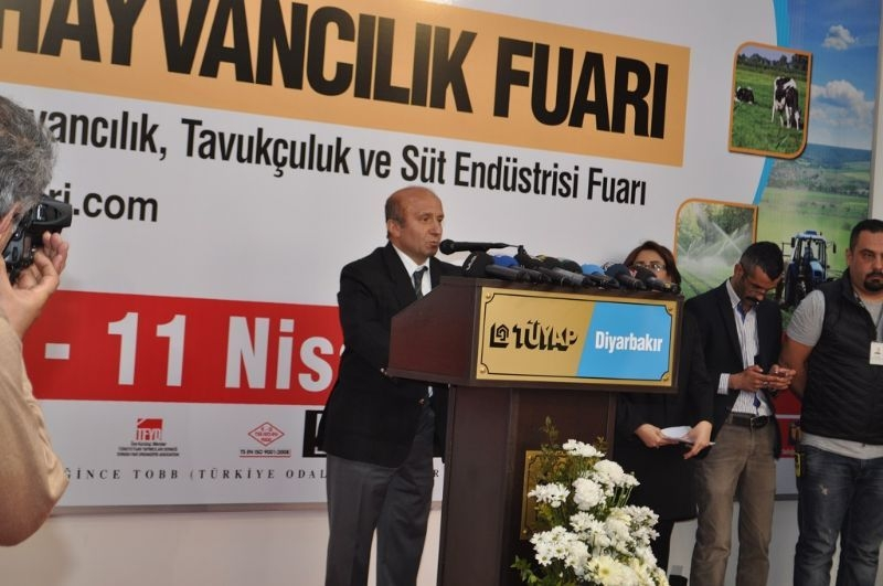 Poultry Husbandry and Dairy Industry Fair of TUYAP was opened at the Fair and Congress Center of Diyarbakir.