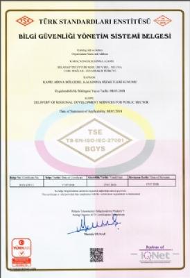 ISO 27001 Bilgi Güvenliği Yönetim Sistemi Belgesi