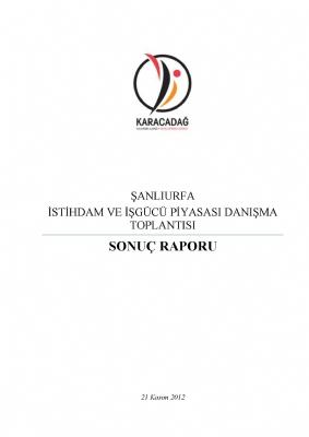 Şanlıurfa İstihdam ve İşgücü Piyasası Danışma Toplantısı ( 2014 - 2023)
